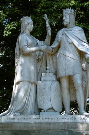 Union of Krewo - Monument of Jadwiga and Jogaila in Kraków