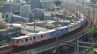 KA Commuter Line Jakarta Kota–Cikarang - Image: 05 108 Mangga Dua Bekasi Line