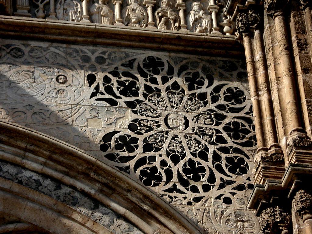 Détail gothique sur la cathédrale de Palerme - Photo de G.dallorto