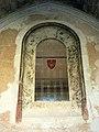 065 Sant Jeroni de la Murtra, capella de la Claraesperança, vitrall.JPG