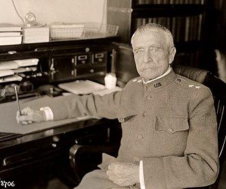 Peter Conover Hains - Major general Hains at his desk in April 1918.