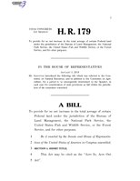 116th United States Congress H. R. 0000179 (1st session) - Acre In, Acre Out Act.pdf