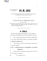 116th United States Congress H. R. 0000202 (1st session) - Inspector General Access Act of 2019 A - Introduced in House.pdf