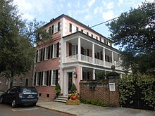 Charleston Single House The Charles Graves House at 123 Tradd Street, Charleston, South Carolina is a classic example of a single house, with its narrow end facing the street, ...