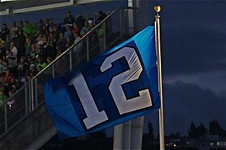 12th man (football) - The 12th Man flag of the Seattle Seahawks