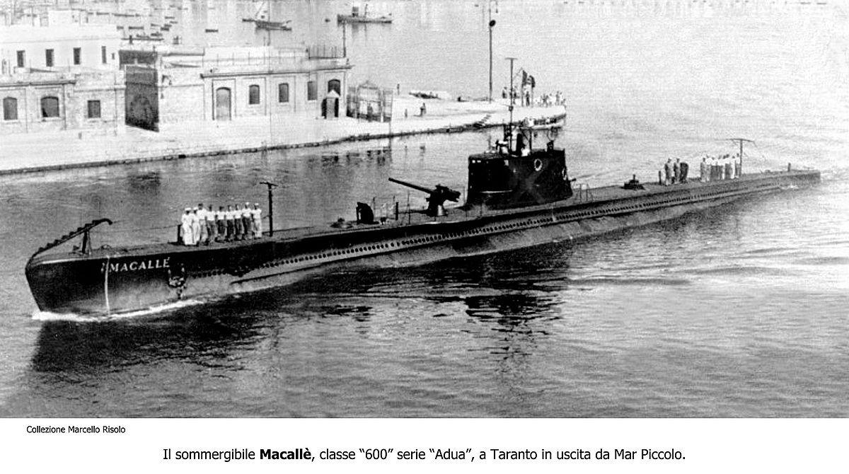 C And C Motors >> Italian submarine Macallé - Wikipedia