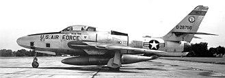 171st Air Refueling Squadron - 171st Tactical Reconnaissance Squadron RF-84F 52-8756