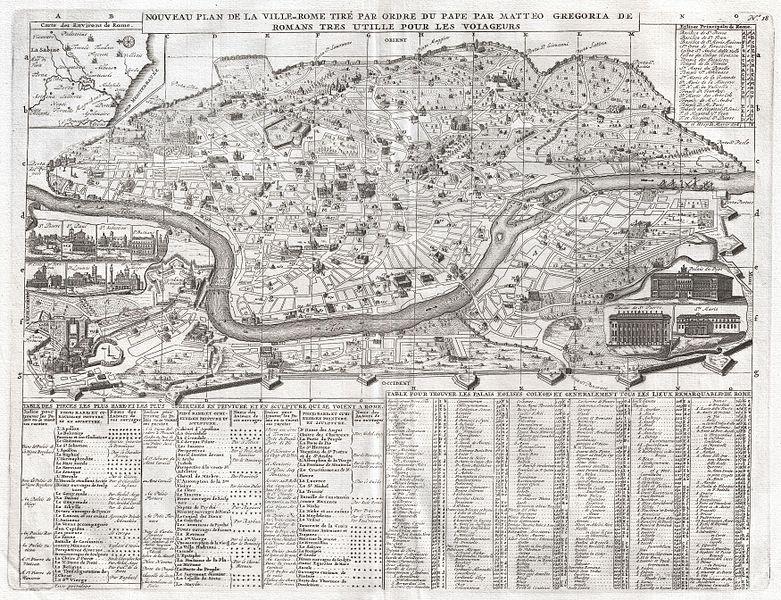 Henri Chatelain Nuova Pianta di Roma 1720