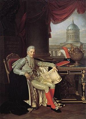 Alexander Sergeyevich Stroganov - Portrait by Alexander Grigoryevich Varnek