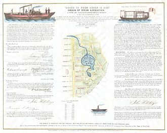 Collect Pond - John Fitch's steamboat experiment on the Collect Pond.