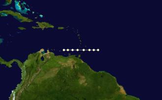 1856 Atlantic hurricane season - Image: 1856 Atlantic hurricane 2 track