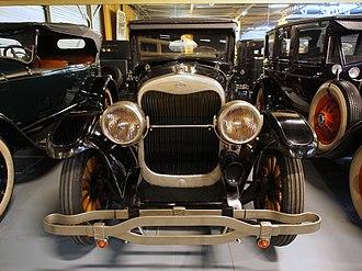 Biflex Products Corporation - BiFlex front bumper on a 1924 Lincoln Model L.