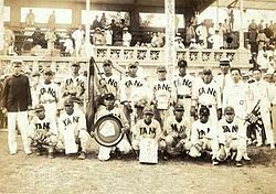1931臺灣嘉義農林棒球隊贏得甲子園高校野球大會準優勝(亞軍) KANO Baseball Team of TAIWAN won 2nd place at the Summer Kōshien (High School Tournament).jpg