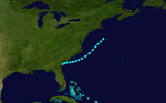 1954 Atlantic tropical storm 4 track.png