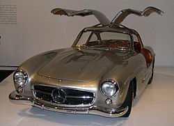 The Mercedes-Benz 300SL.
