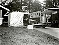 1961. Portable fumigation chamber set up, ready for gas introduction. Truck is equipped for phases of work concerned with gas introduction and evacuation. European pine shoot moth control. Seattle, WA. (33934713883).jpg