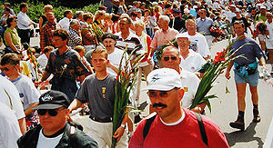 International Four Days Marches Nijmegen - Arrival of participants in 1997