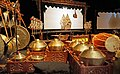 1 collection of Indonesian musical instruments, screen and puppets for wayang kulit Mahabharata show.jpg
