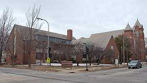 First Presbyterian Church (Champaign, Illinois) - View from the southeast