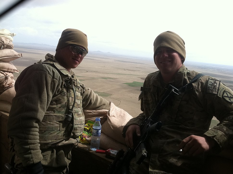 2-22 Infantry soldiers manning an out post in Afghanistan, 2013