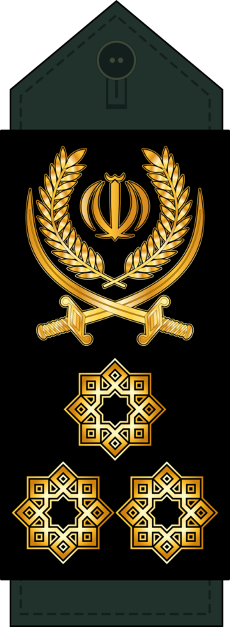 Rank Insignia of the Islamic Revolutionary Guard Corps - Image: 20 Sepahbod IRGC