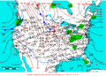 2006-02-13 Surface Weather Map NOAA.png