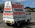 2006 Piaggio Porter in Swannery Car Park, Weymouth, UK (rear) (34207547971).jpg