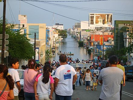 Scene from the 2007 floods 2007 Tabasco flood.jpg