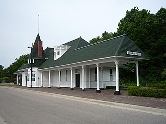 Charlevoix, Michigan - Charlevoix Depot Museum is housed in the original train station; it is listed on the National Register of Historic Places.