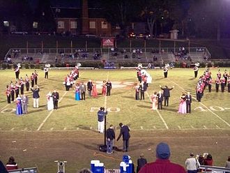 University of West Alabama - The 2009 Homecoming court presented at halftime