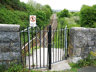 Disused railway stations on the Cornish Main Line - Old entrance to Defiance Platform