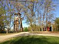 2013-05-06 18 26 48 Climbing tower viewed from the southwest at YMCA Camp Bernie.jpg