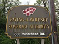 2014-05-15 15 22 43 Sign for ELSA, the Ewing-Lawrence Sewarage Authority, on Whitehead Road (Mercer County Route 616) in Lawrence Township, New Jersey.JPG