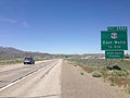 2014-06-11 12 47 27 Sign one-quarter mile ahead of Exit 352A along westbound Interstate 80 and northbound Alternate U.S. Route 93 in Wells, Nevada.JPG