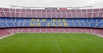Camp Nou - Image: 2014. Camp Nou. Més que un club. Barcelona B40