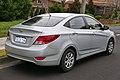 2014 Hyundai Accent (RB2 MY14) Active sedan (2015-08-07) 02.jpg