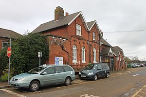 Diss railway station - Image: 2014 at Diss main building
