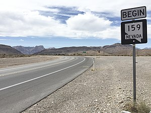 Nevada State Route 159 - View from the west end of SR 159 looking eastbound