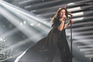 Portugal in the Eurovision Song Contest 2015 - Leonor Andrade at a dress rehearsal for the second semi-final