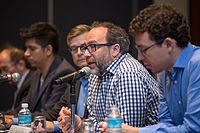 2015 Wikimania press conference-5.jpg