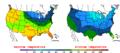 2016-04-09 Color Max-min Temperature Map NOAA.png