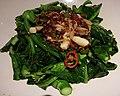 2016-08-13 Choi Sum (Brassica rapa subsp. chinensis var. parachinensis) dish in Beijing anagoria.jpg