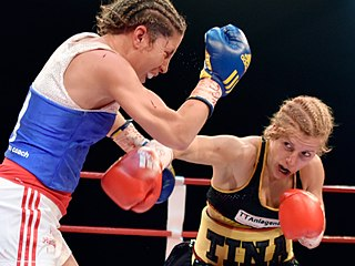 Womens boxing Boxing when practised by girls/women
