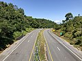 2019-08-09 10 44 08 View west along U.S. Route 33 (Spotswood Trail) from the overpass for Virginia State Route 48 (Skyline Drive) at Swift Run Gap within Shenandoah National Park on the border of Greene County and Rockingham County, Virginia.jpg