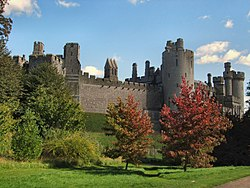 Arundel castle founded by Roger de Montgomery in 1067