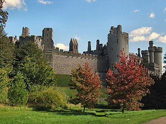 History of Sussex - Arundel castle founded by Roger de Montgomery in 1067
