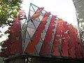 21 Parasoles garabato, de Juan Navarro Baldeweg, UPF, c. Wellington 10 (Barcelona).jpg