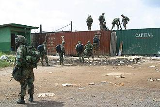 History of Liberia - American troops secure Freeport of Monrovia, 2003