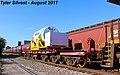 2 3 CSXT 5211 Leads WB Nuclear Train Olathe, KS 8-1-17 (36258772661).jpg