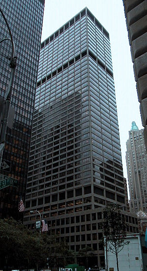 KPMG - Headquarters of KPMG LLP, the United States-based member firm of KPMG International, at 345 Park Avenue, New York City